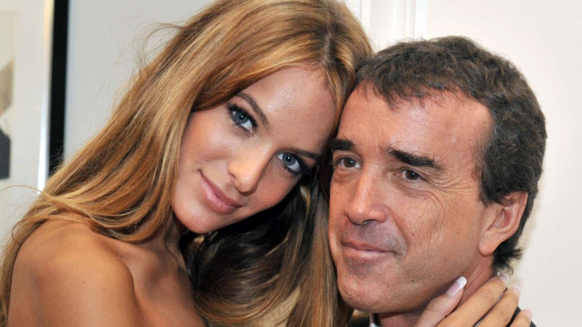 Arnaud Lagardère et son épouse Jade (photo AFP)