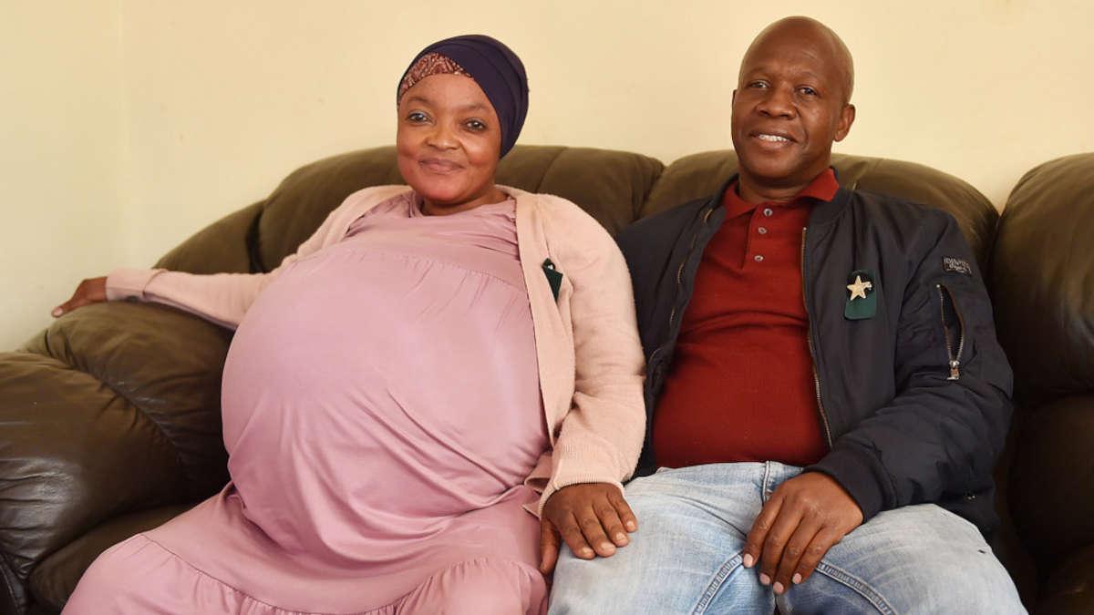Gosiame Thamara Sithole et son mari (Photo DR)