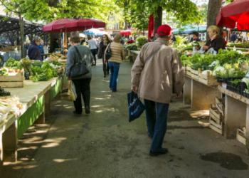 Un marché français (image d'illustration)