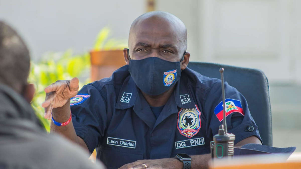 Léon Charles, Patron de la police haïtienne. photo : DR