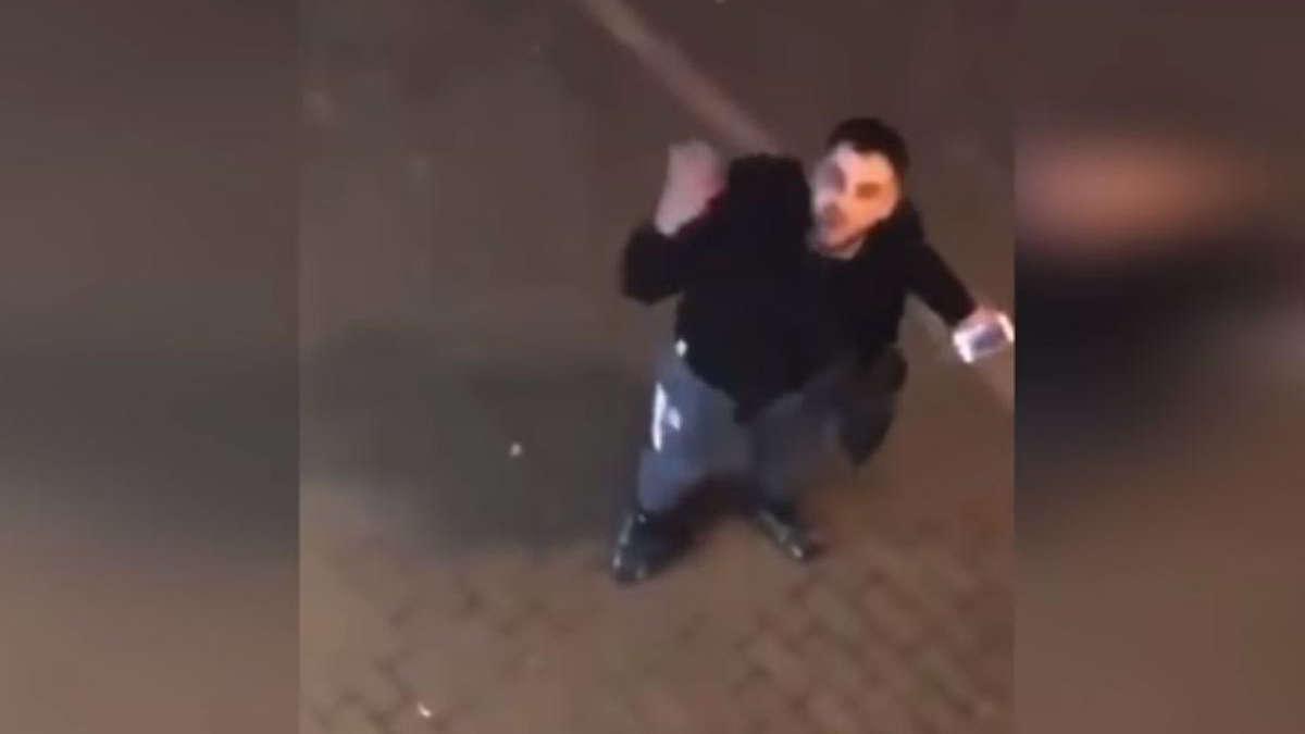 Capture d'écran de l'agresseur insultant une voisine