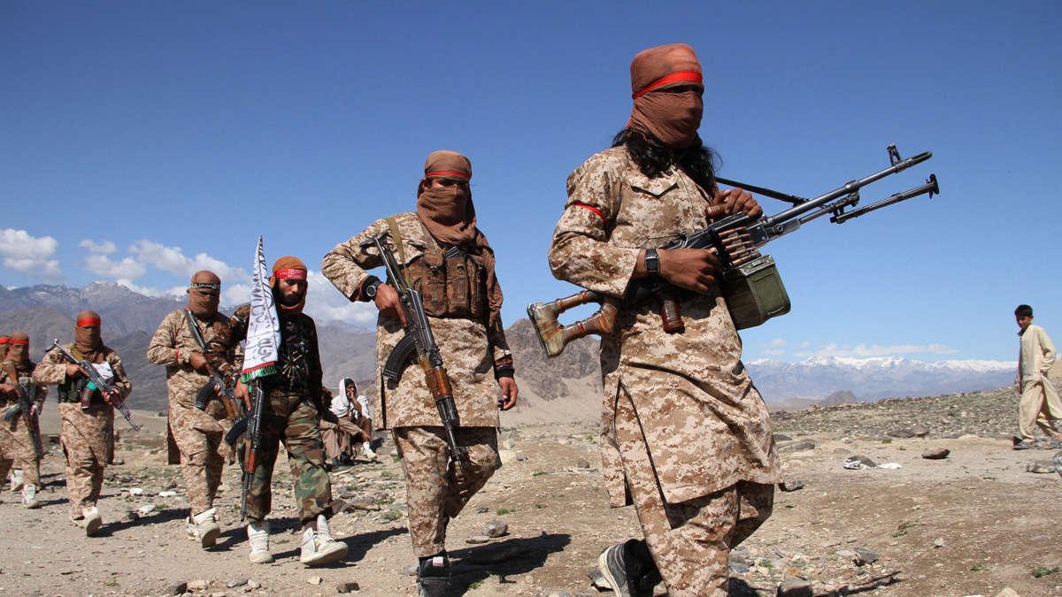 Des combattants talibans (Wali Sabawoon/NurPhoto/Getty Images)