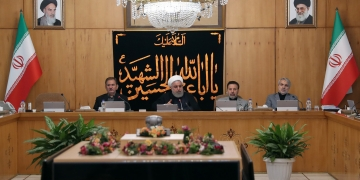 Hassan Rohani en Conseil des minitres. Ph : Iranian Presidency/AFP
