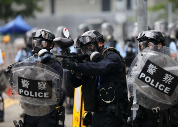 des policiers hongkongais pendant une manifestion Photo d'illustration : Sam Tsang