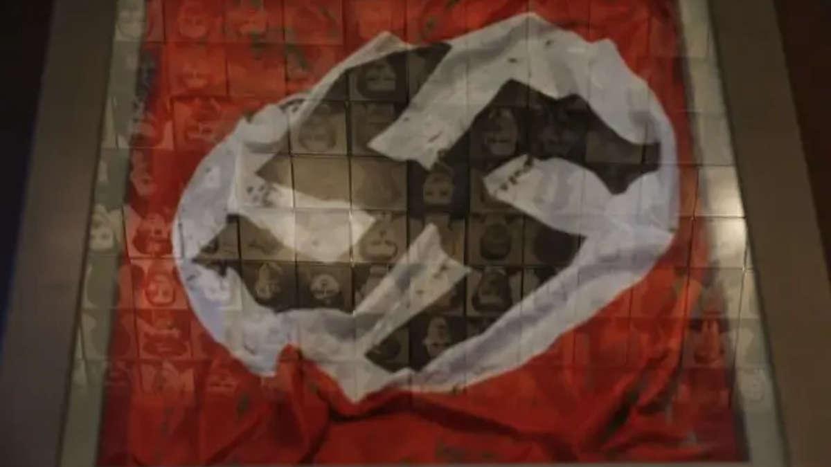 Illustration d'un drapeau nazi. — Petros Giannakouris/AP/SIPA