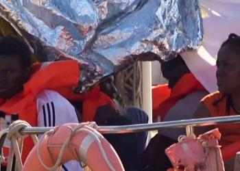Migrants africains à leur arrivée sur l'île de Lampedusa.(- / LOCAL TEAM )
