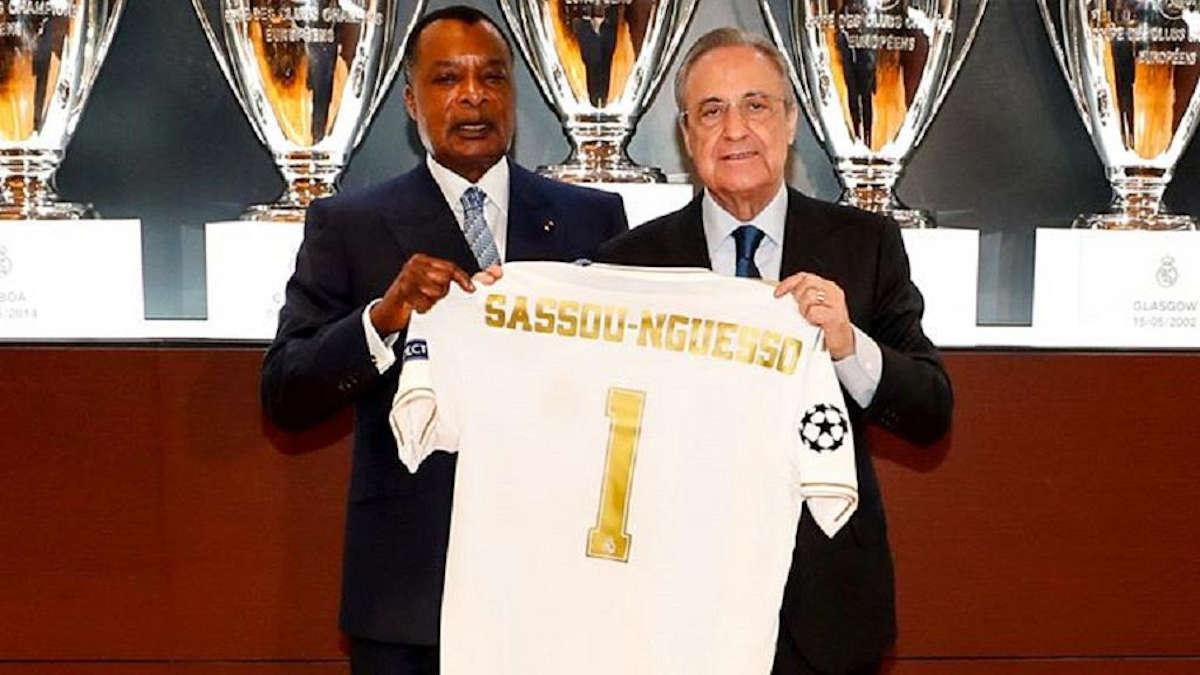 Visite de Sassou Nguesso au stade Barnabeu
